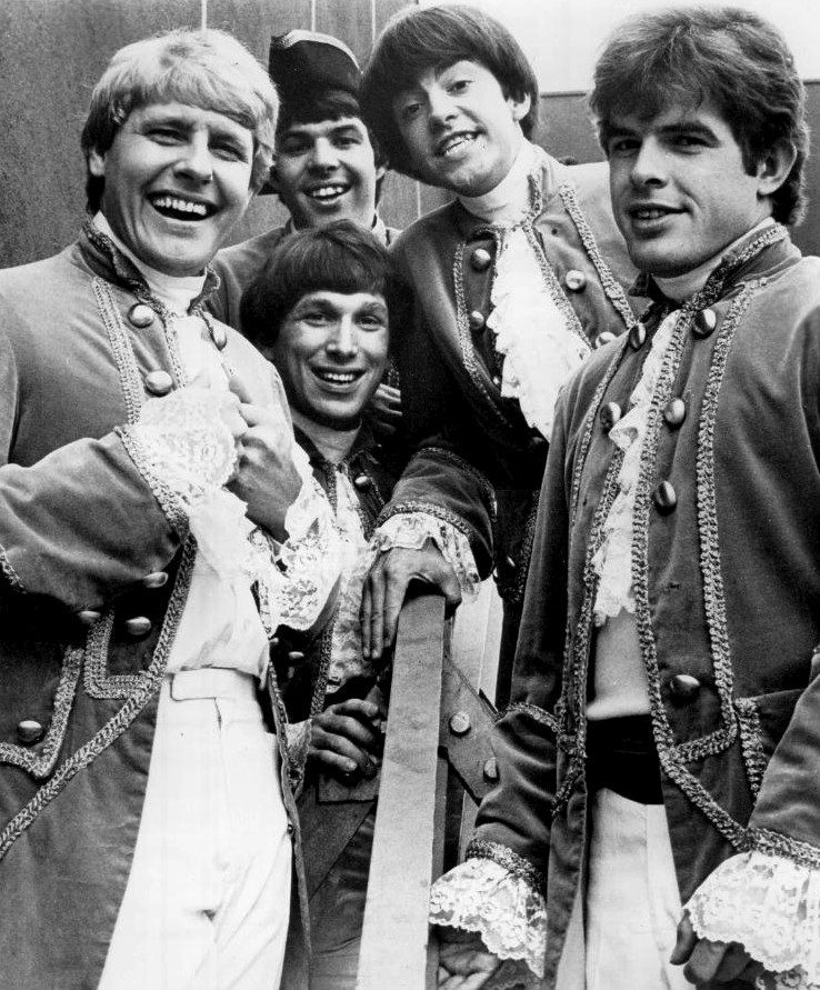 """Paul Revere and the Raiders. (From left: Paul Revere, Mike """"Smitty"""" Smith, Phil """"Fang"""" Volk, Mark Lindsay, Drake Levin.)"""
