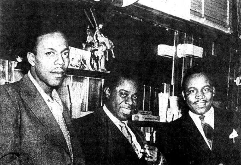 Louis Armstrong with Dude Ranch owners Pat Patterson and Sherman Pickett. (Photo: The Leftbank Project)